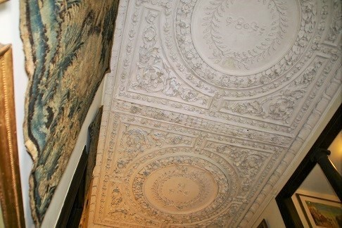 carolean plasterwork ceiling at Owletts - owned by the National Trust
